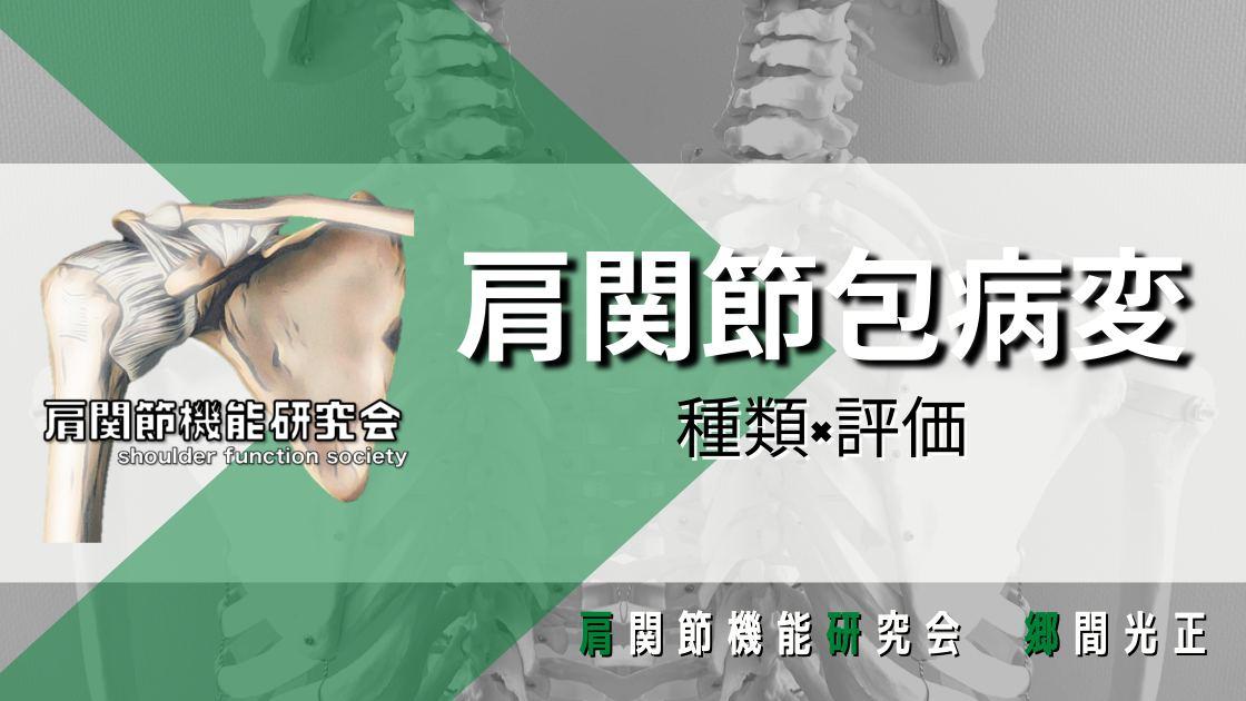 肩関節包と肩関節唇の病変
