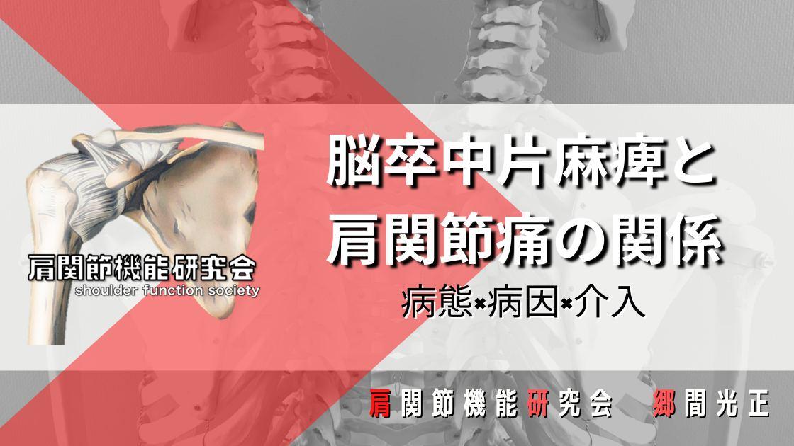 脳卒中片麻痺と肩関節痛の関係