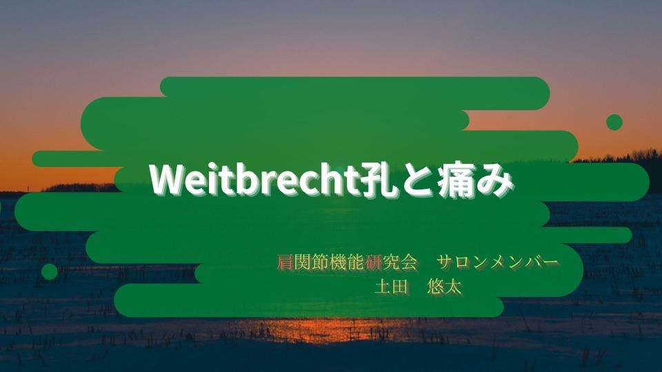 〜Weitbrecht孔と痛み〜
