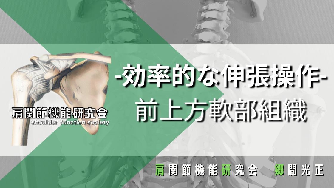 肩関節前上方軟部組織の効率的な伸張操作